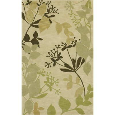 Bradshaw Ivory Rainforest Area Rug Rug Size: Rectangle 33 x 53