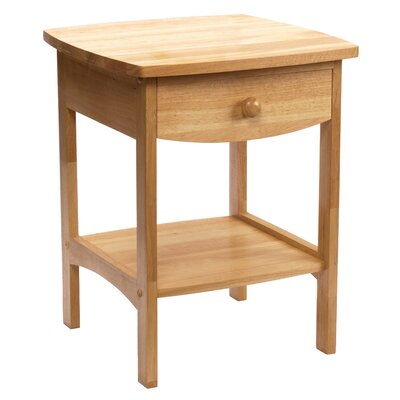 Carlton 1 Drawer Nightstand Finish: Natural