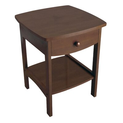 Carlton 1 Drawer Nightstand Finish: Walnut