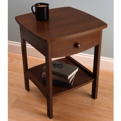 Carlton 1 Drawer Nightstand Color: Walnut