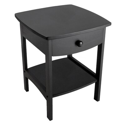 Carlton 1 Drawer Nightstand Finish: Black