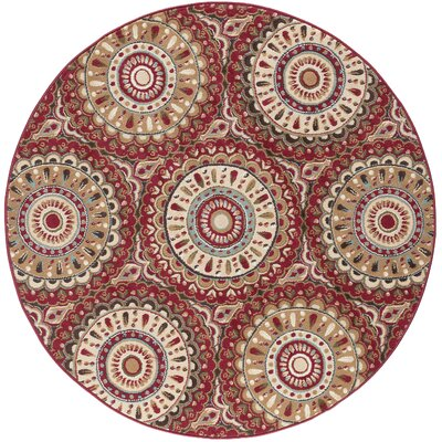 Scullin Area Rug Rug Size: Round 53