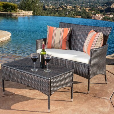 Louella 2 Piece Lounge Seating Group Frame Finish: Brown