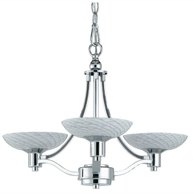 Roland 3-Light Shaded Chandelier