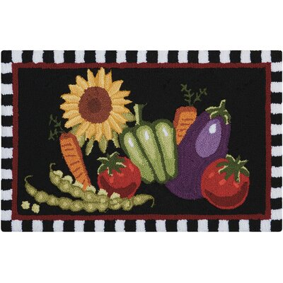 Bardolph Black/Green Doormat Mat Size: Rectangle 18 x 29