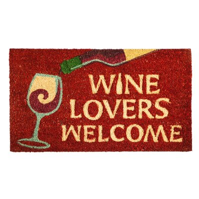 Chelsi Wine Lovers Welcome Coir Doormat