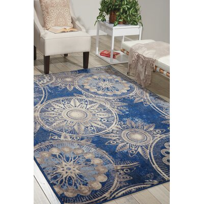 Myron Denim Area Rug Rug Size: Rectangle 53 x 75