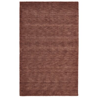 Terrence Hand-Loomed Rust Area Rug Rug Size: 23 x 39