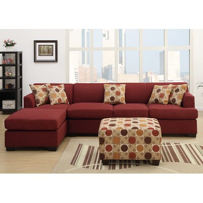 Corporate Reversible Sectional Upholstery: Dark Red
