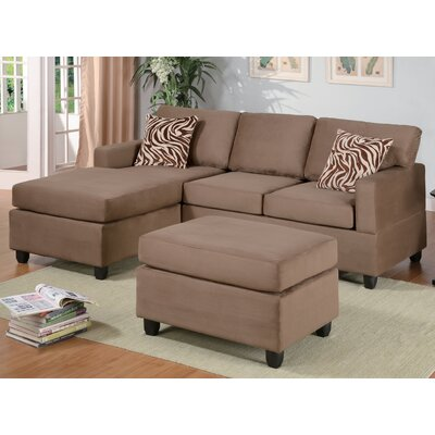 Corporate Reversible Chaise Sectional Upholstery: Saddle