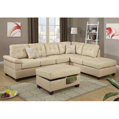 Corporate Reversible Chaise Sectional Upholstery: Khaki