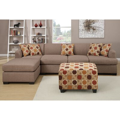 Corporate Reversible Sectional Upholstery: Stone
