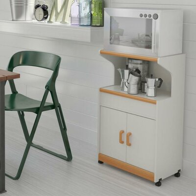 Howland Microwave Cart Finish: White