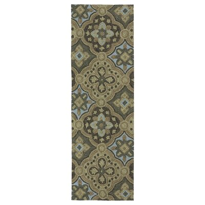 Chloe Mocha Floral Indoor/Outdoor Area Rug Rug Size: Runner 26 x 8