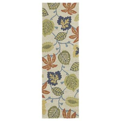 Chloe Linen Floral Indoor/Outdoor Area Rug Rug Size: Runner 26 x 8