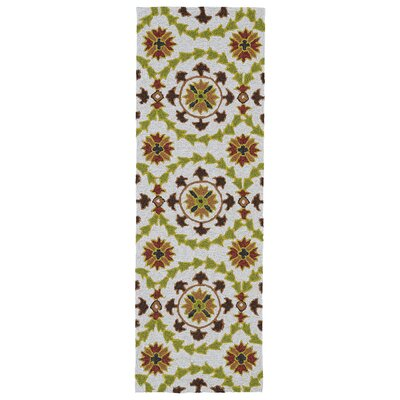 Didama Brown Indoor/Outdoor Area Rug Rug Size: Runner 2 x 6