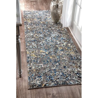 Stoneham Gray/Silver Area Rug Rug Size: Runner 2'8