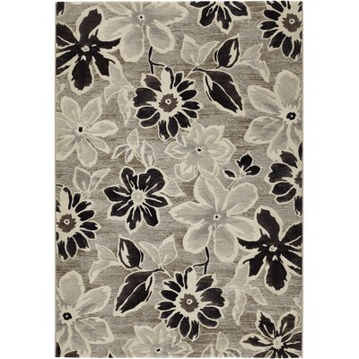 Howard Gray/Black Area Rug Rug Size: Rectangle 92 x 125