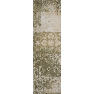 Mcintosh Vintage Gold and Sage Area Rug Rug Size: Runner 23 x 76