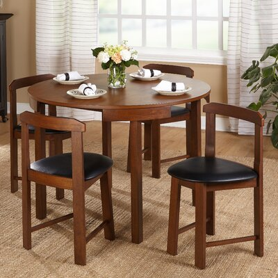 Mabelle 5 Piece Dining Set Finish: Walnut