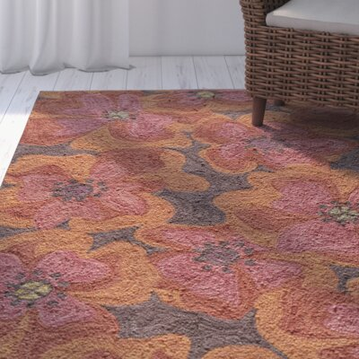 Unionville Hand-Woven Raspberry Area Rug Rug Size: 36 x 56