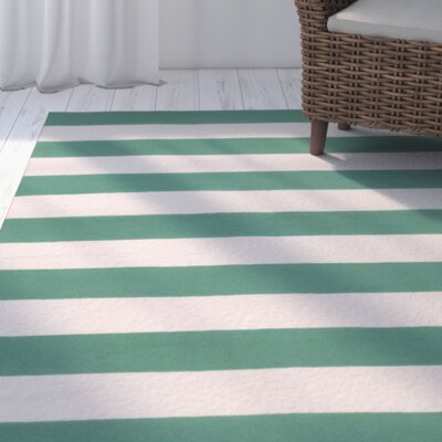 Kramer Emerald Green & Ivory Area Rug Rug Size: Rectangle 2 x 3