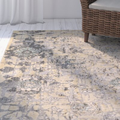 Alderman Gray/Beige Area Rug Rug Size: 110 x 211