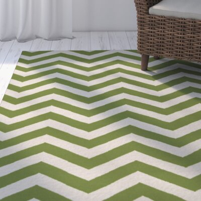 Lowery Papyrus/Peridot Chevron Area Rug Rug Size: Rectangle 9 x 13