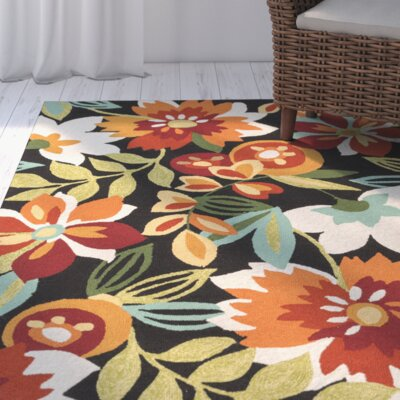 Cynthia Hooked Indoor/Outdoor Area Rug Rug Size: Rectangle 9 x 12