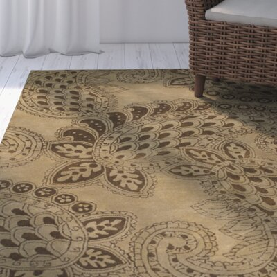Grace Camel Brown/Tan Area Rug Rug Size: Round 79