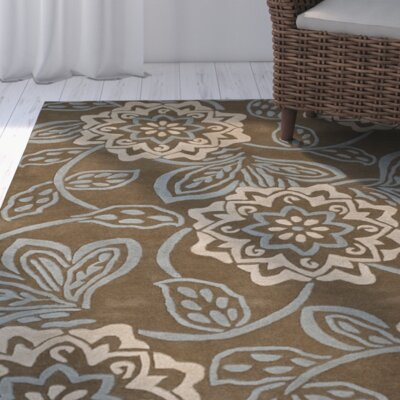 Jayme Brown/Tan Area Rug Rug Size: Rectangle 5 x 76