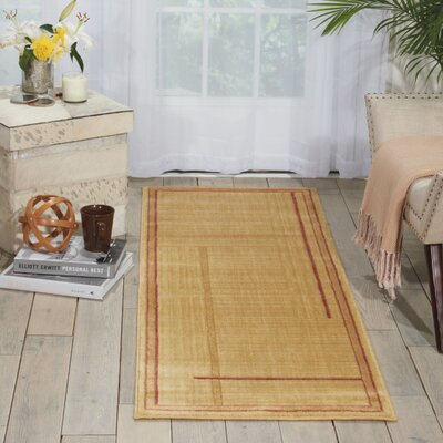 Smithtown Gold Area Rug Rug Size: Runner 2 x 59