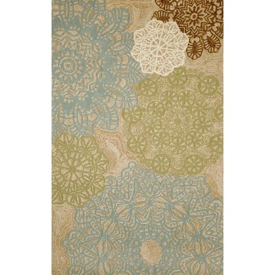 Willa Crochet Aqua Indoor/Outdoor Rug Rug Size: 36 x 56