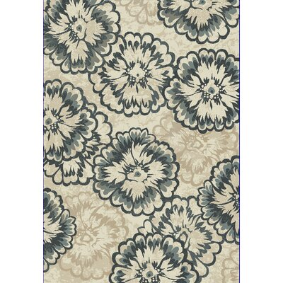 Amy Ivory/Blue Area Rug Rug Size: Runner 22 x 710