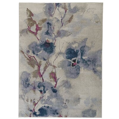 Alberta Frosted Blossom Area Rug Rug Size: Rectangle 22 x 4