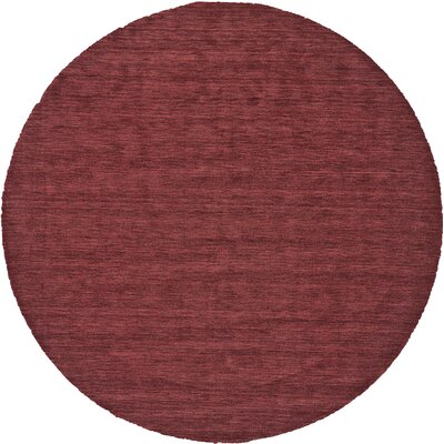 Richardson Hand-Loomed Red Area Rug Rug Size: Round 10
