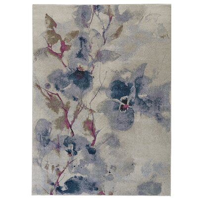 Alberta Frosted Blossom Area Rug Rug Size: Rectangle 710 x 1010
