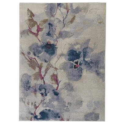 Alberta Frosted Blossom Area Rug Rug Size: Rectangle 53 x 77