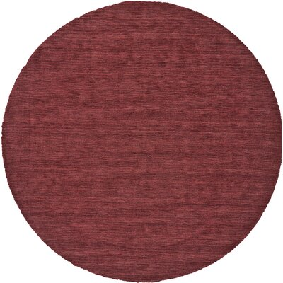 Terrence Hand-Loomed Red Area Rug Rug Size: Round 8
