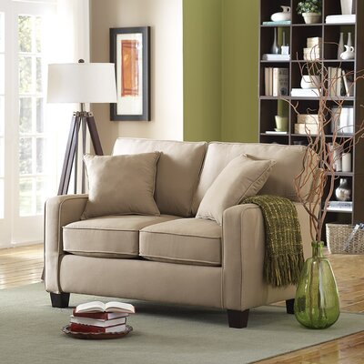 Abbot Loveseat Upholstery Color: Beige