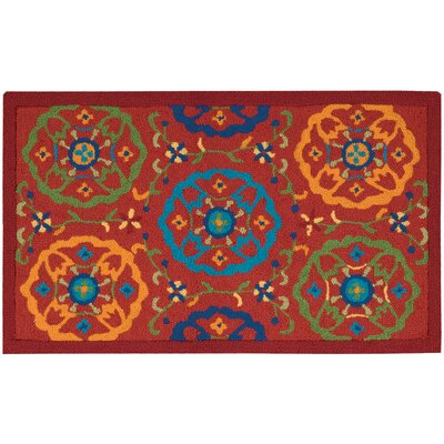Shonda Hand-Tufted Red Indoor Area Rug