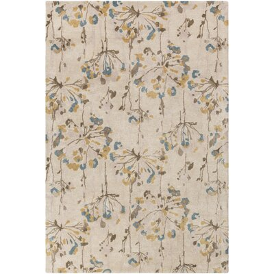 Walshville Hand-Tufted Floral and paisley Viscose/Wool Area Rug Rug Size: 33 x 53