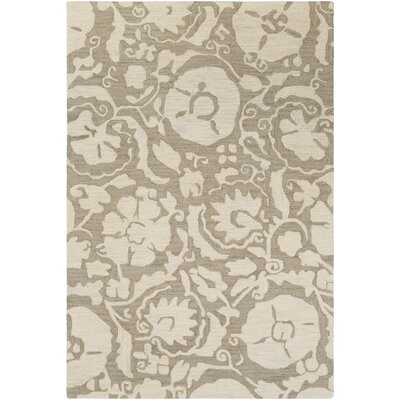 Julie Hand-Tufted Taupe/Cream Area Rug Rug Size: 8 x 10