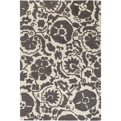 Julie Hand-Tufted Charcoal/Cream Area Rug Rug Size: Rectangle 2 x 3