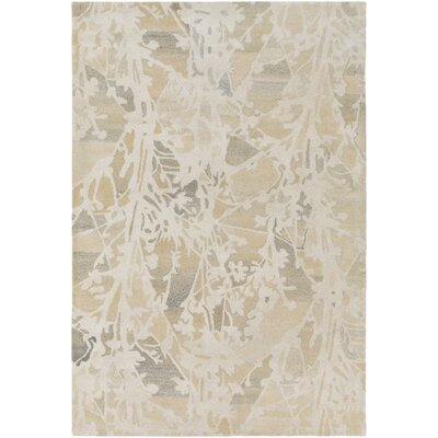 Heather Hand-Tufted Cream/Butter Area Rug Rug Size: Rectangle 5 x 76