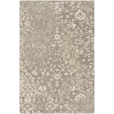 Heather Hand-Tufted Cream/Tan Area Rug Rug Size: 2 x 3