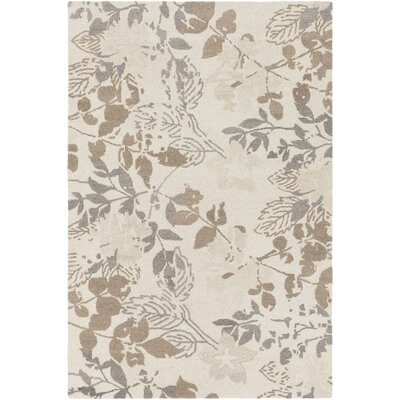 Heather Hand-Tufted Cream/Taupe Area Rug Rug Size: Rectangle 2 x 3