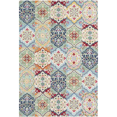 Johannsen Hand-Tufted Cream/Khaki Area Rug Rug Size: Rectangle 4 x 6