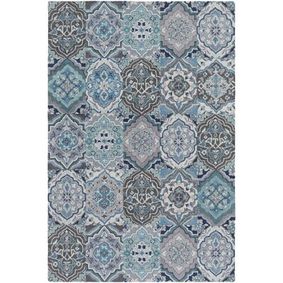 Johannsen Hand-Tufted Ivory/Medium Gray Area Rug Rug Size: Rectangle 5 x 76