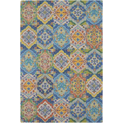 Johannsen Hand-Tufted Khaki/Dark Blue Area Rug Rug Size: Rectangle 6 x 9